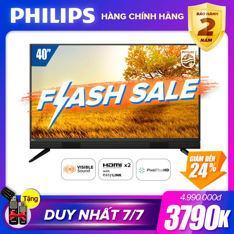 TIVI PHILIPS 40 INCH 40PFT5583/74 LED FULL HD (DIGITAL TV DVB-T2 HÀNG THÁI LAN) - TIVI GIÁ RẺ TẶNG USB CỰC CHẤT 16G - BẢO HÀNH CHÍNH HÃNG 2 NĂM TẠI NHÀ Giá Hot Siêu Giảm tại Lazada