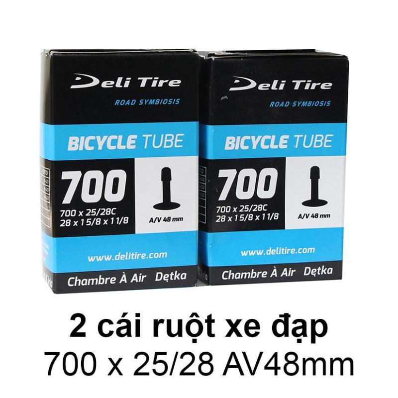 Mua Ruột xe đạp, săm xe đạp 700x25/28C AV48mm DELI-TIRE ( Gồm 2 cái ) -- -- SPORTS WORLD SHOP