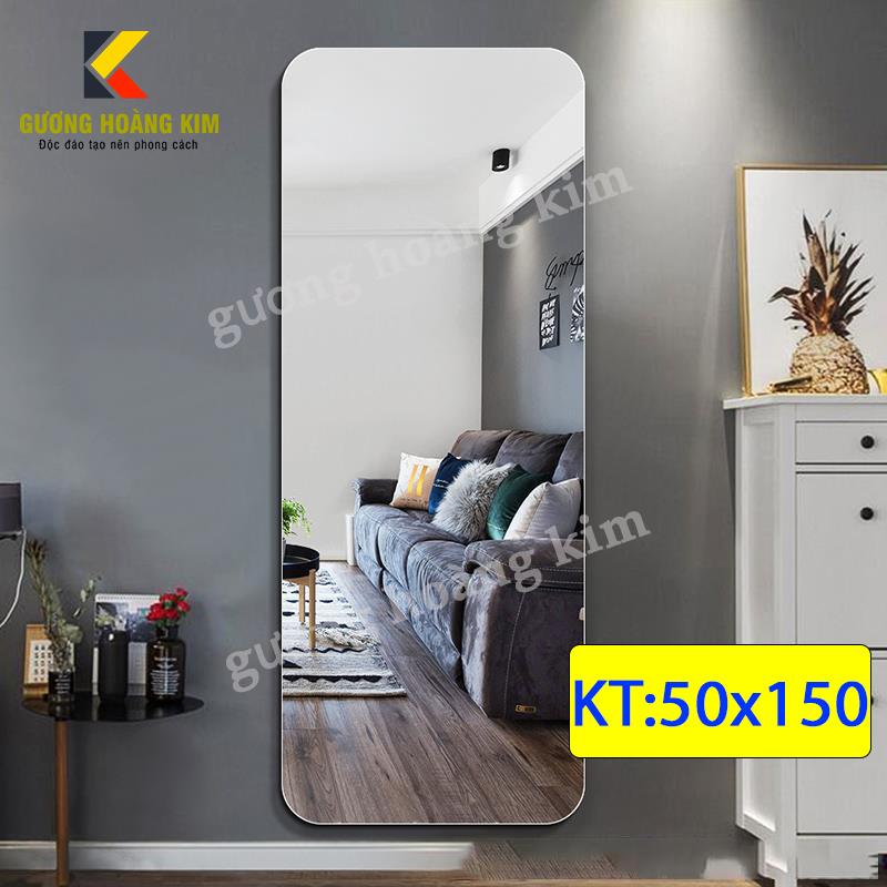 Gương soi toàn thân cao cấp treo tường kích thước 50x150 cm - guonghoangkim - Mirror