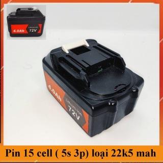 ( Loại dung lượng cao) Pin 15 cell chân gài thông dụng dùng chung pin máy khoan , máy bulong, bảo hành 1 tháng thumbnail
