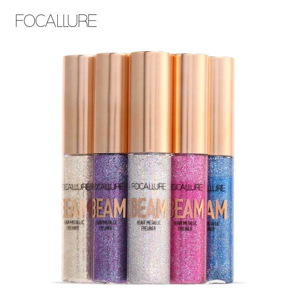 Bút kẻ mắt FOCALLURE dạng lỏng ánh nhũ không thấm nước bền màu lâu trôi với 5 màu tùy chọn trong lượng 8G - INTL