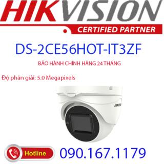 [HCM]Camera Dome 4 in 1 hồng ngoại 5.0 Megapixel HIKVISION DS-2CE56H0T-IT3ZF thumbnail