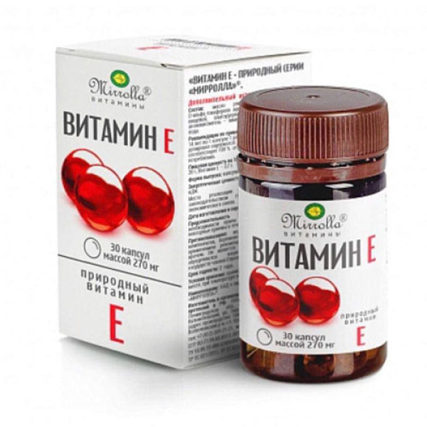 Vitamin E Đỏ Nga Mirrolla 270mg