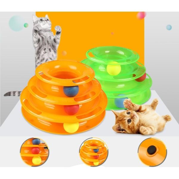 Đồ chơi mèo 3 tầng hình tháp banh cho mèo đùa nghich vui nhộn giảm stress cho Mèo