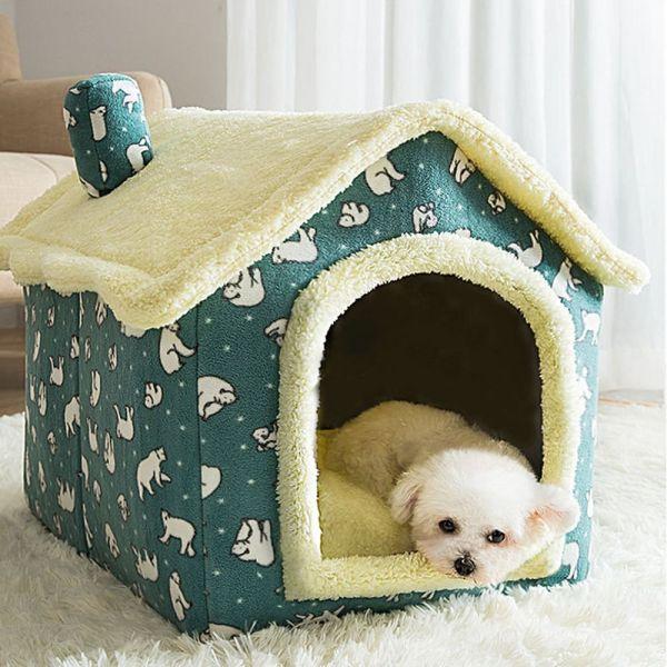 SANTO Có thể gập lại Thoải mái Giấc ngủ sâu Mèo con Teddy Trong nhà Mùa đông ấm áp Đồ dùng cho thú cưng Nhà cho chó Cũi Giường cho mèo