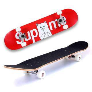 Ván trượt Supreme mặt nhám , Ván trượt skateboard , Trượt ván hình nhám bánh cao su trong Đẳng Cấp, Trục bánh hợp kim nhôm chịu lực Cao, Chống bào mòn thumbnail
