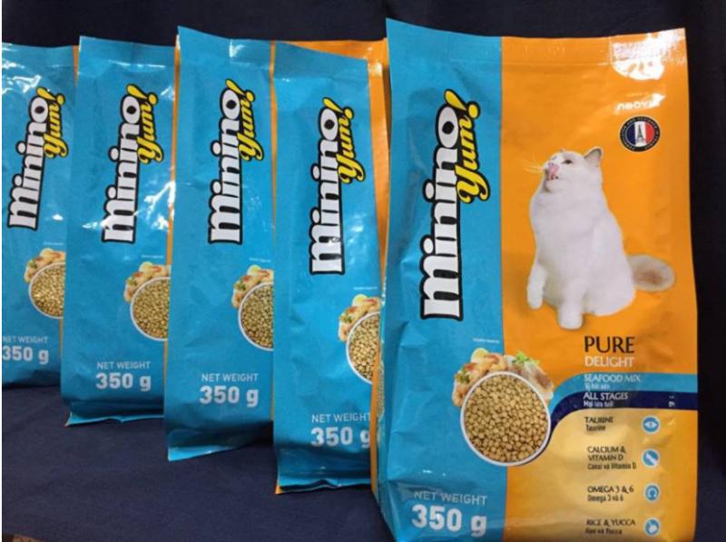 Combo 5 túi thức ăn dành cho mèo mọi lứa tuổi Mninino Yum (350g/túi)