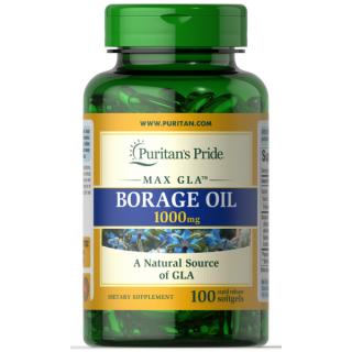 Tinh dầu hoa lưu ly (HSD 11 2023) tăng cường nội tiết tố, kích thích phát triển vòng 1, giảm mụn nội tiết, đều kinh nguyệt Borage Oil 1000 mg của Puritan s Pride thumbnail