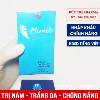[HÀNG NHẬP KHẨU] Viên uống chống nắng, trắng da, trị nám, chống lão hóa MIRACLE hộp 60 viên thumbnail