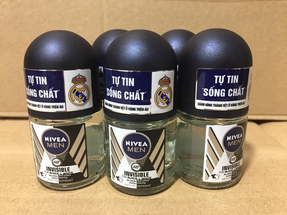 Chai lăn khử mùi Nivea men 12ml nhập khẩu