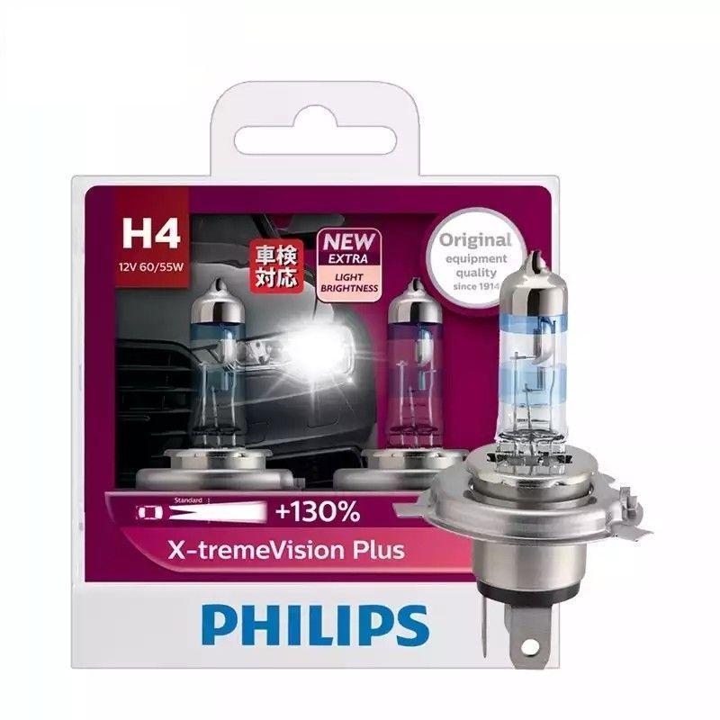 Bóng Đèn Ô tô Tăng Sáng Philips H4 XstremVision Plus + 130%