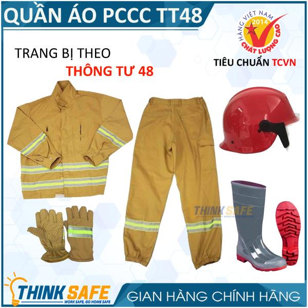 Quần áo PCCC theo thông tư 48 có tem kiểm định PCCCAP-65/Bộ trang phục PCCC theo thông tư 48 - Bảo hộ Thinksafe