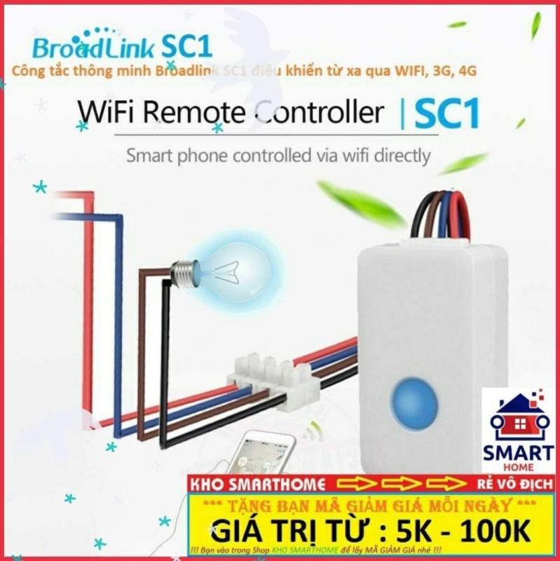 Công tắc thông minh Broadlink SC1 điều khiển từ xa qua WIFI, 3G, 4G