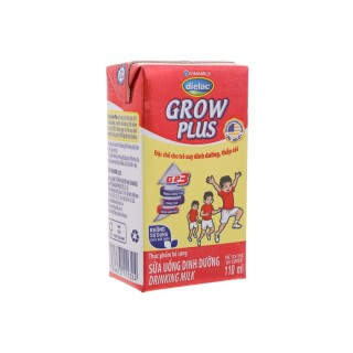 Sữa Bột Pha Sẵn Vinamilk Dielac Grow Plus đỏ 110ml ( Thùng x 48 hộp) thumbnail