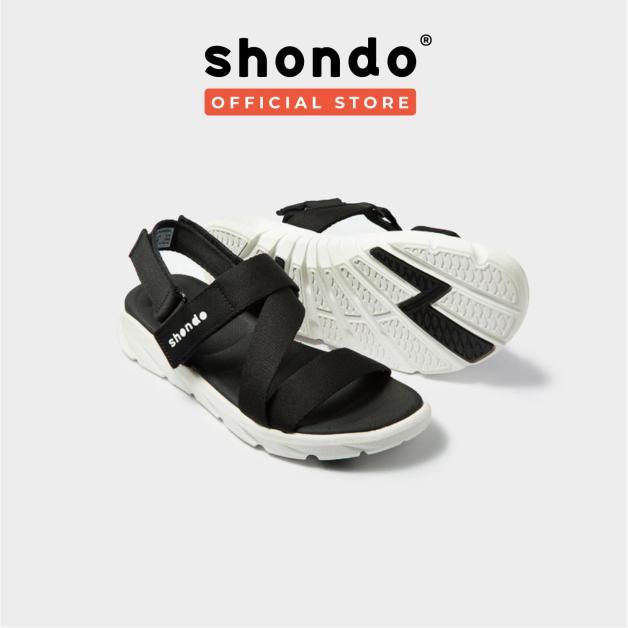 Giày nữ sandals SHONDO F6 Sport - F6S003 (Đen trắng) giá rẻ