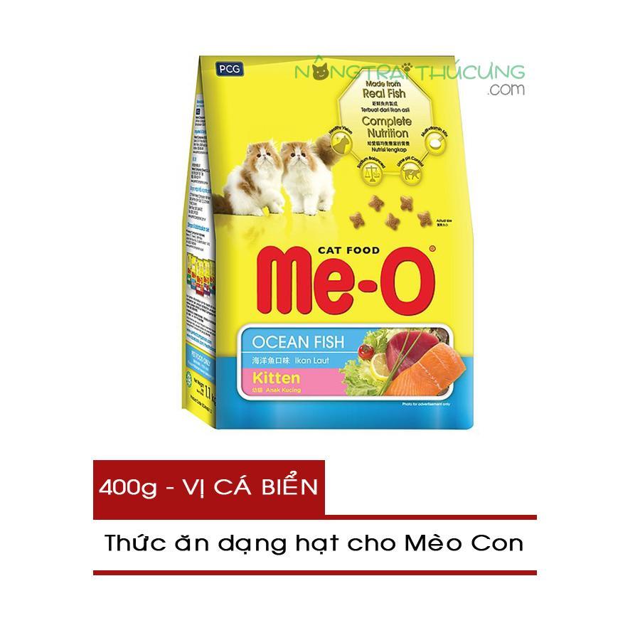 Mã Khuyến Mại Thức ăn Hạt Cho Mèo Con ME-O Gói 400g - Vị Cá Biển - [Nông Trại Thú Cưng]