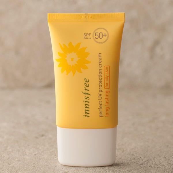 Kem Chống Nắng Innisfree Perfect UV protection cream long lasting (for oily skin) SPF50+ PA+++ 50ml chính hãng