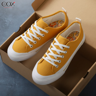 Giày Sneaker Vải Nữ Dincox C20 Yellow Sang Trọng Tinh Tế thumbnail