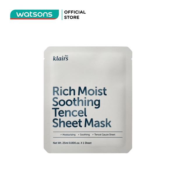 Mặt Nạ Dear Klairs Dưỡng Ẩm Và Làm Mịn Da Rich Moist Soothing Tencel Sheet Mask 25ml