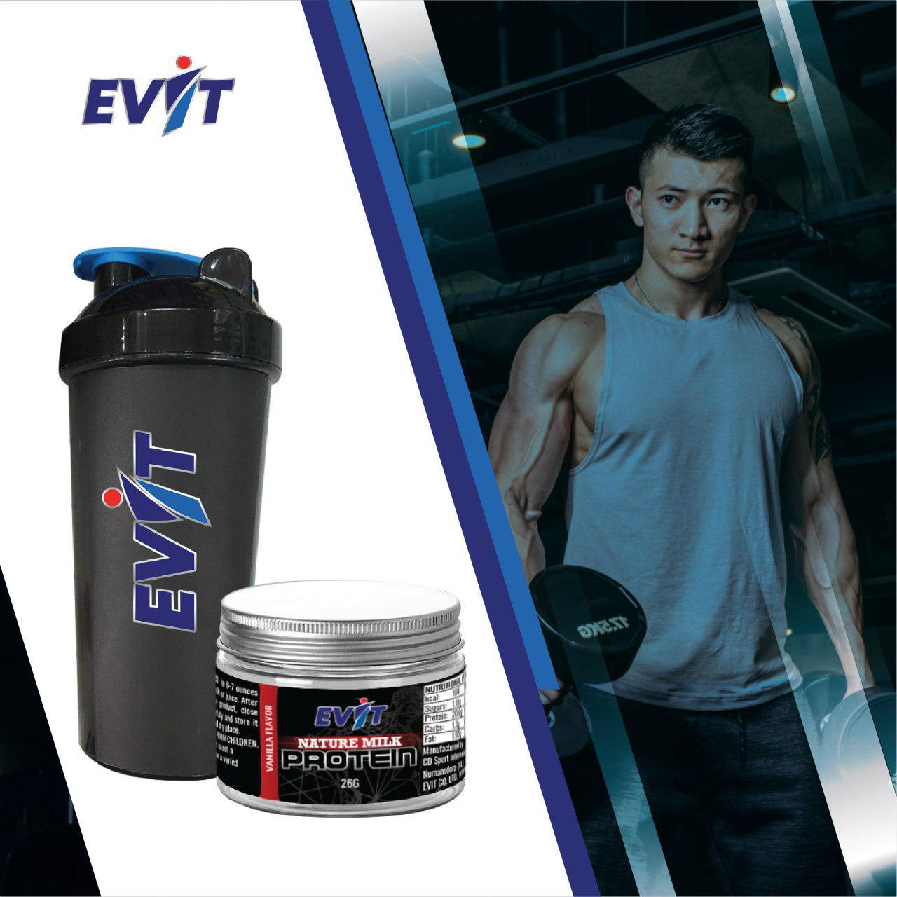 COMBO Bình lắc & Whey Protein