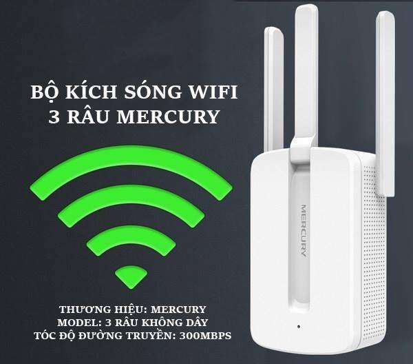 Giá Bộ khuếch đại wifi MECURY 3 râu- kích sóng wifi
