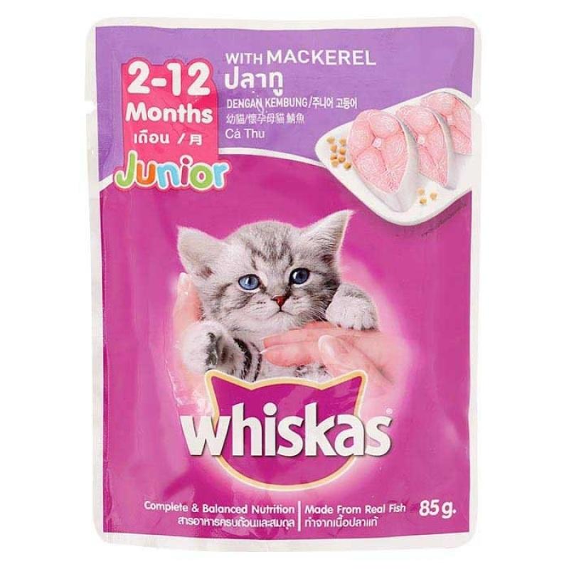 [Lấy mã giảm thêm 30%]Pate Vị Cá Ngừ Cho Mèo Con Whiskas Junior Tuna 85g - iPet Shop