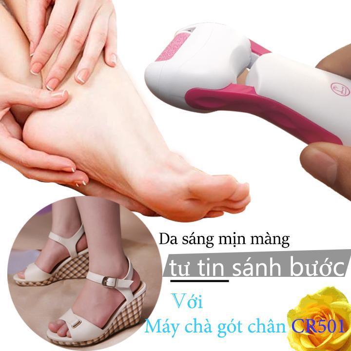 [Tặng bao lì xì xuân 2020] Máy chà gót chân dùng pin CR-501 - Máy tẩy tế bào chết - Tầy chai gót chân - Dụng cụ chà gót chân