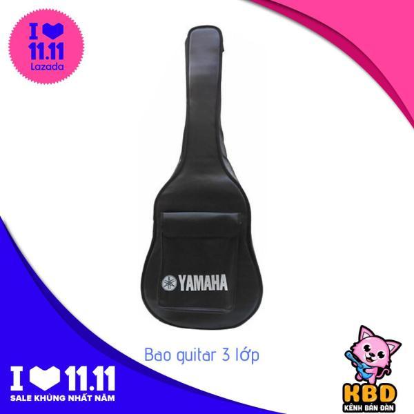 Bao đàn Guitar 3 lớp Yamaha (Đen)