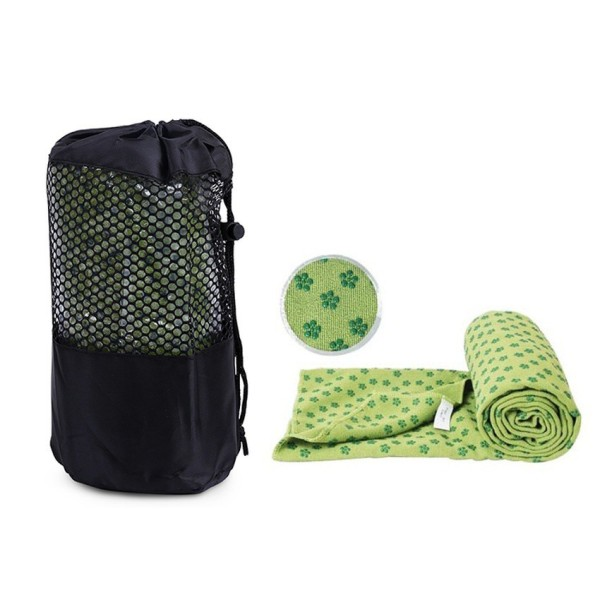 [Lấy mã giảm thêm 30%] Khăn trải thảm tập Yoga có hạt PVC chống trượt + tặng kèm túi đựng