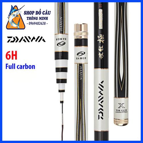 Cần Câu Tay 6H Daiwa Hamon Full carbon siêu nhẹ đủ size: 3m6 4m5 5m4 6m3 cần câu tay tốt , can cau ca gia re daiwa ( Shop Đồ Câu Thông Minh )