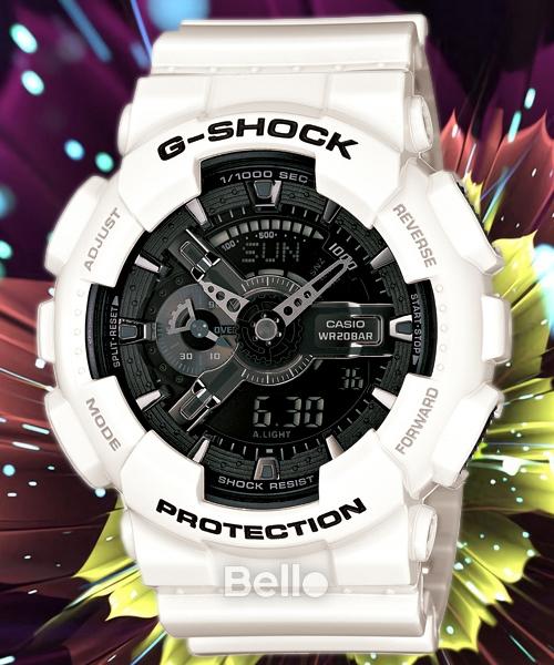 Đồng hồ nam G-SHOCK GA110 (TRẮNG MẶT ĐEN) siêu chống nước + Tặng kèm pin + Bảo hành 6 tháng + BELLO SHOP bán chạy