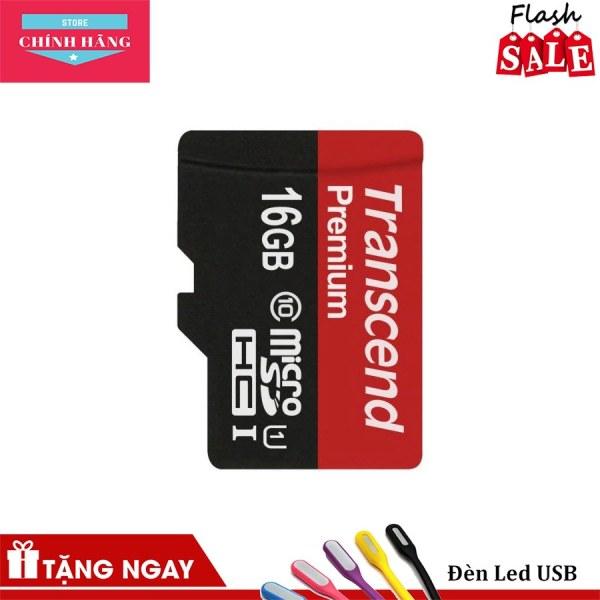 Thẻ nhớ microSDHC Transcend 16GB Premium upto 90MB/s
