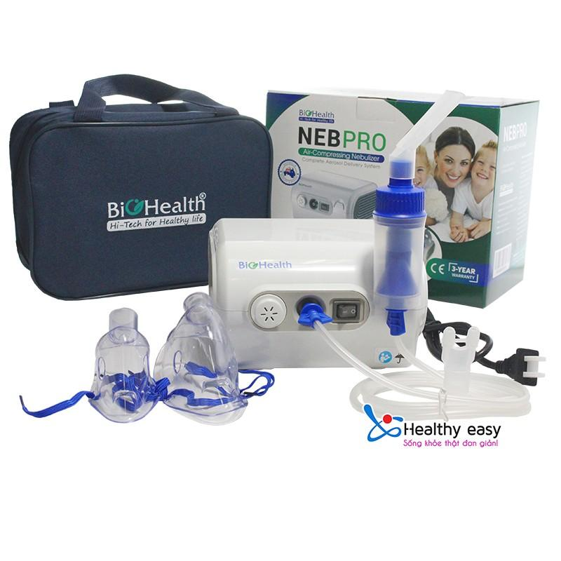 Máy xông mũi họng cho người lớn và trẻ em bị bệnh về đường hô hấp Biohealth Nebpro cao cấp