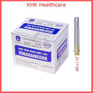 Kim tiêm 20G x 1.1 2 Vinahankook (đầu kim 20G) hộp 100 kim thumbnail