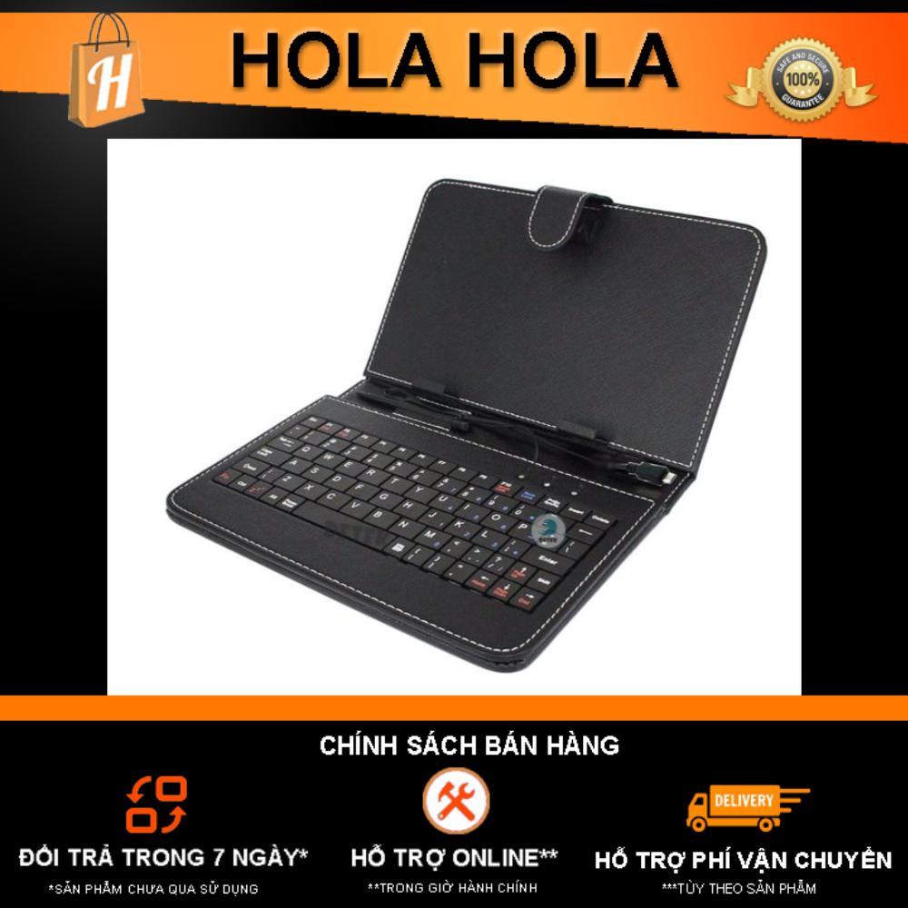 Giá Bao da kiêm bàn phím cho máy tính bảng 10 inch Hola (Đen)