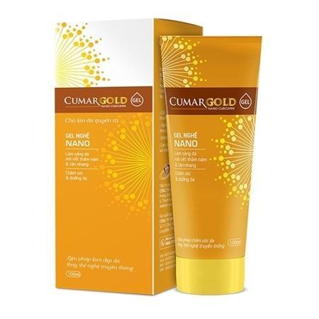Cumargold Gel - tinh chất nghệ nano làm mờ thâm nám, gel nghệ nano dưỡng sáng da và chống lão hóa da hiệu quả, an toàn (100ml) nhập khẩu