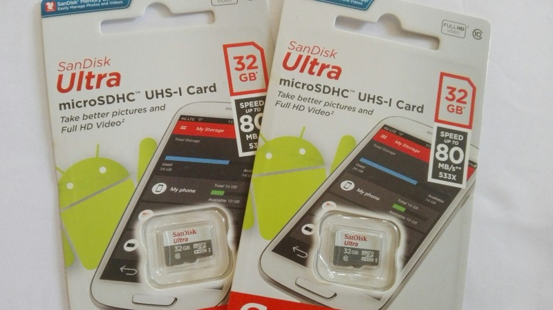 Thẻ nhớ 16GB, 32GB Sandisk Ultra Micro SDHC (Class 10) 80Mb/s