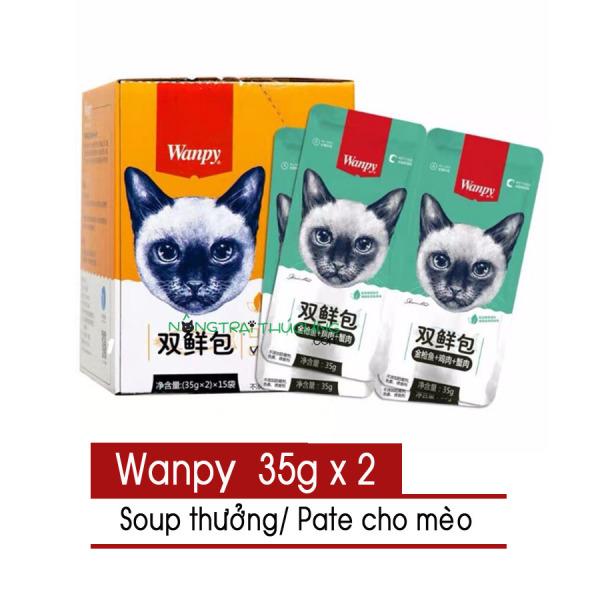 Pate/Súp thưởng Wanpy cho mèo - gói đôi 35gr - [Nông Trại Thú Cưng]