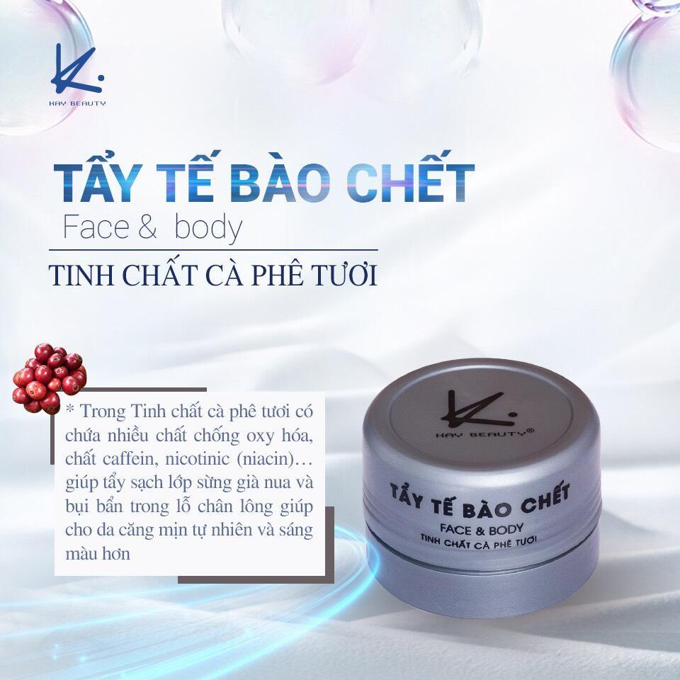 Kem Tẩy Tế Bào Chết KAY Tinh Chất Cafe Face & Body tốt nhất