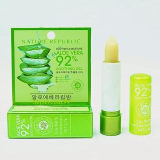 Son dưỡng môi Nha đam Aloe Vera - Son gió lên màu 92% thiên nhiên thumbnail