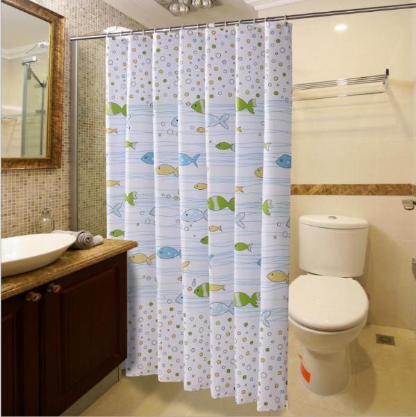Rèm phòng tắm chống nước 1.8m có kèm móc treo - cá nhỏ xinh xinh
