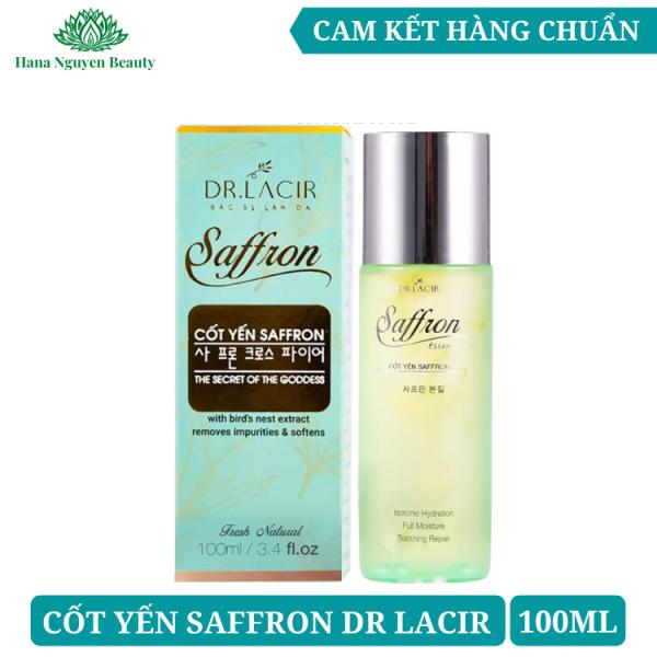 Nước hoa hồng cốt yến saffron Dr Lacir 100ml - Cấp ẩm và làm sạch sâu cho da