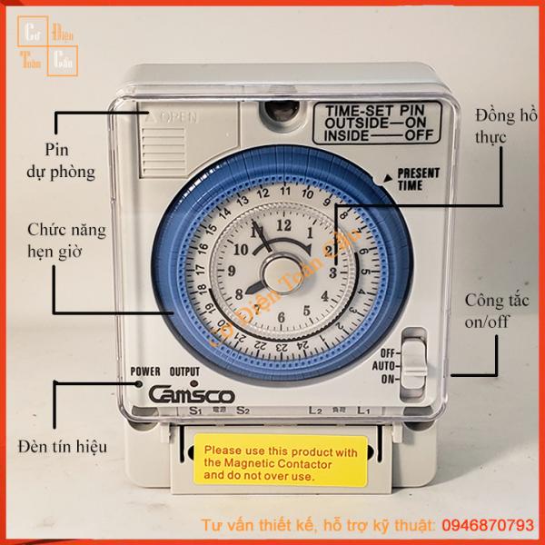 Timer 24H,  công tắc thời gian, Bộ Hẹn Giờ Camso TB-35N , TB35N