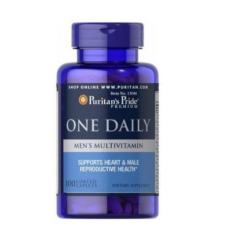 Vitamin tổng hợp cho thanh niên, đàn ông (HSD: 05/2021)- tăng cường hệ miễn dịch, giảm nguy cơ lây nhiễm virus  - One daily men 100 viên của Puritans Pride cao cấp