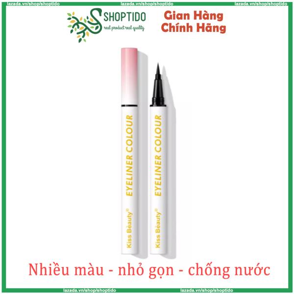 Bút kẻ mắt nước Kiss Beauty Eyeliner Colour nhiều màu, chống trôi nội địa Trung NPP Shoptido giá rẻ