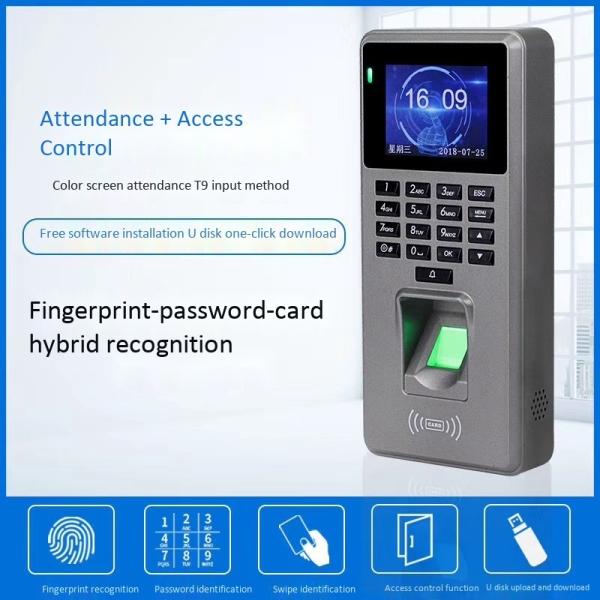 Fingerprint Time Attendance Color Screen 2000 Fingerprint Capacity Clock Recorder Supports Fingerprint Password Card