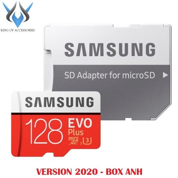 Thẻ nhớ MicroSDXC Samsung Evo Plus 128GB U3 4K R100MB/s W60MB/s - box Anh New 2020 (Đỏ) + Kèm Adapter - Phụ Kiện 1986