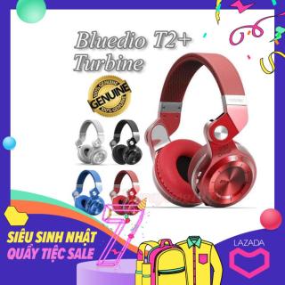(Video)Tai nghe bluetooth Bluedio Turbine T2+ (Turbine T2 Plus) blueooth 4.1 âm thanh Streo Bass to Có FM và Mic phiên bản nâng cấp Tai nghe chụp tai F10 đen Tai nghe chụp tai cao cấp có khe thẻ nhớ Bluetoot thumbnail