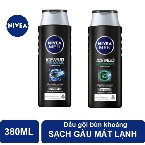 Combo 2 chai Dầu Gội Bùn Khoáng Nivea Men 380ml*2  (HSD 05/2020)
