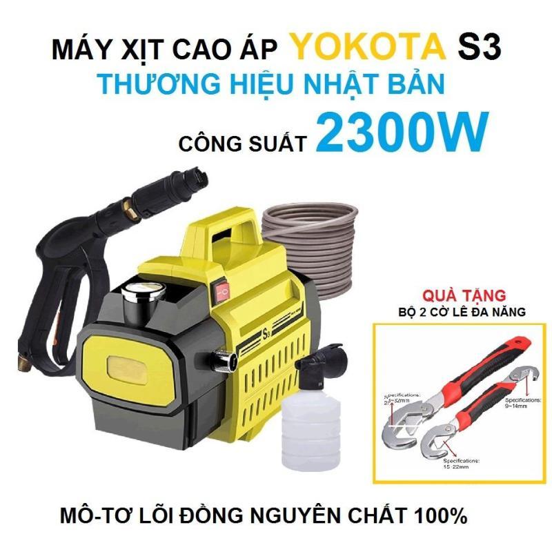 Máy Rửa Xe Áp Lực Cao YOKOTA S3, 2300W, Lõi đồng nguyên chất 100%, tự hút nước TẶNG BỘ 2 CỜ LỂ ĐA NANG